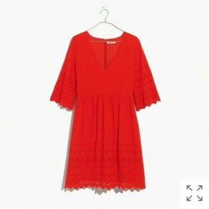 NWT Madewell Eyelet Lattice Dress